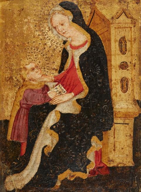 Italienischer Meister des frühen 15. Jahrhunderts - Madonna mit Kind