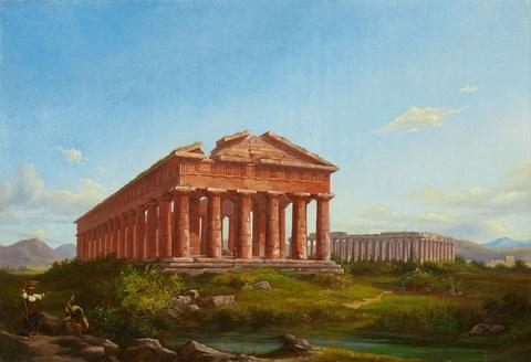Deutscher Künstler des frühen 19. Jahrhunderts - Der Poseidon Tempel von Paestum