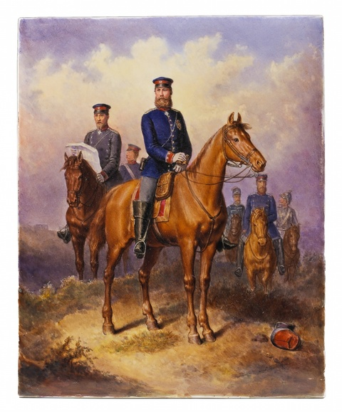 Kronprinz Friedrich im Feld -