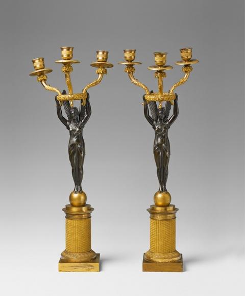 Paar Girandoles mit Viktorien -