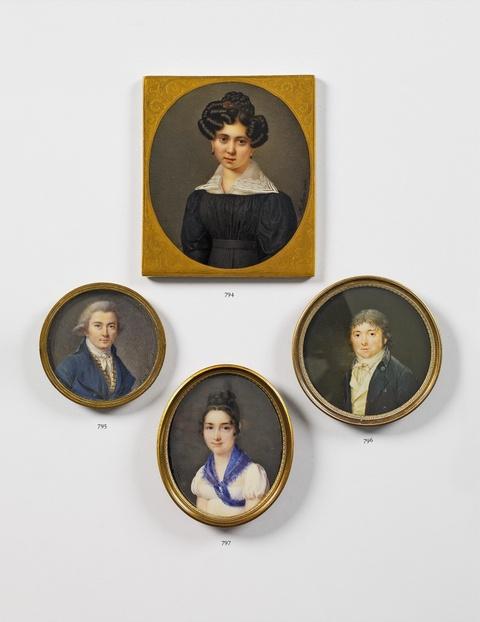 A portrait miniature of a young Munich lady. -