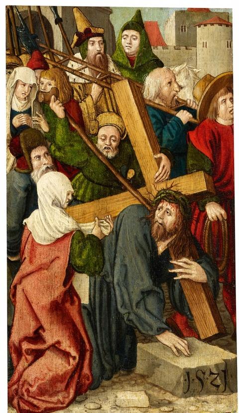Süddeutscher Meister des 16. Jahrhunderts - Kreuztragung Christi
