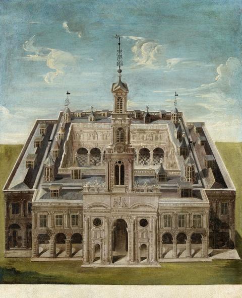 Italienischer Meister des 17. Jahrhunderts - Ansicht eines Schlosses