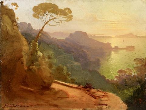 August Wilhelm Ferdinand Schirmer - Southern Coastal Landscape