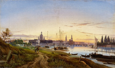 Anton Castell - A View of Dresden
