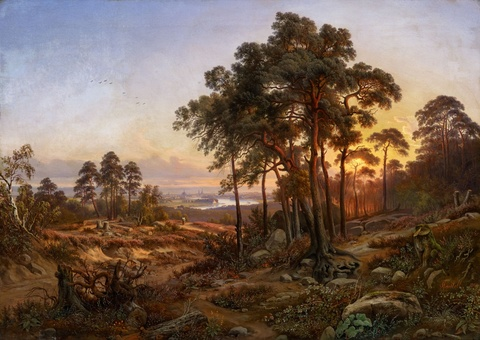 Anton Castell - Landscape with a View of Dresden