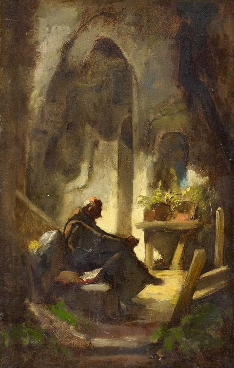 Carl Spitzweg - Der gähnende Mönch