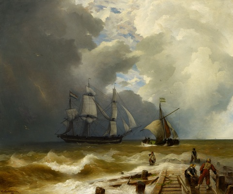 Andreas Achenbach - At the Jetty