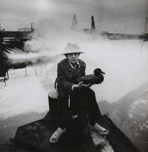 Arthur Tress - Boy with Duck Decoy, Passaic, New Jersey