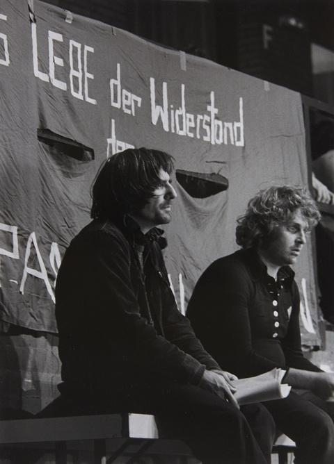 Barbara Klemm - Rudi Dutschke und Daniel Cohn-Bendit, Offenbach