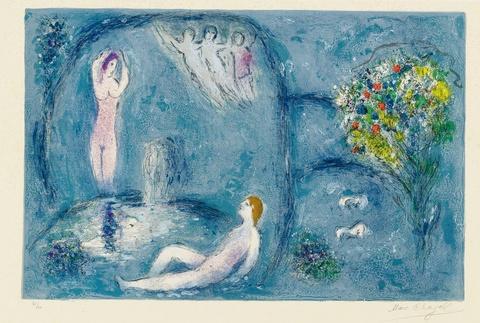 Marc Chagall - La Caverne des Nymphes