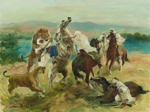 Otto Dill - Der Angriff der Löwen