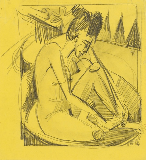 Ernst Ludwig Kirchner - Badende im Tub