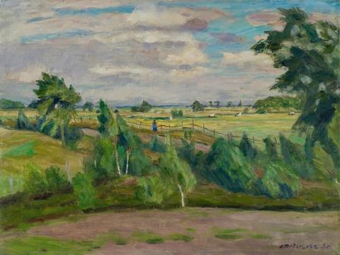 Otto Modersohn - Sommertag - Weg an der Surheide