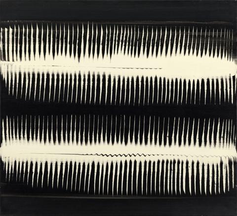 Heinz Mack - Dynamische Struktur Schwarz auf Weiß