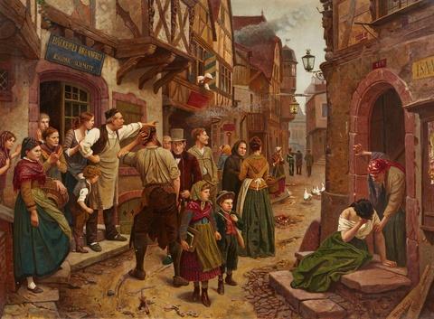 Benjamin Vautier - The Apprehended Thief