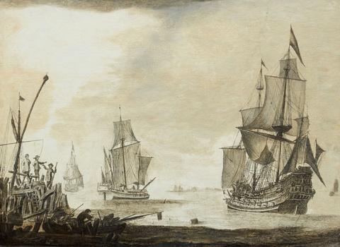 Netherlandish School 17th century - Sailing Ships
