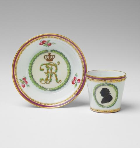 Tasse mit Silhouette Friedrich II. -