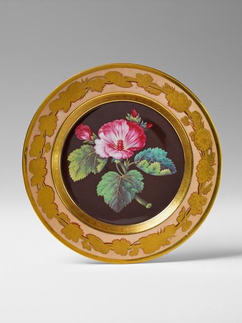 Botanischer Teller Hibiskus -