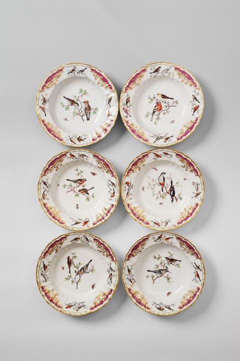 Sechs Suppenteller für den Grafen Rothenburg -