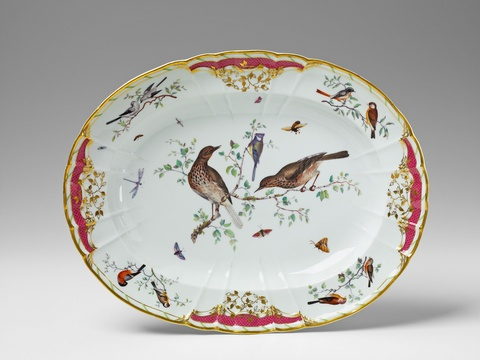 Ovale Platte für den Grafen Rothenburg -