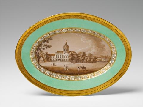 Platte mit Ansicht Schloss Charlottenburg -
