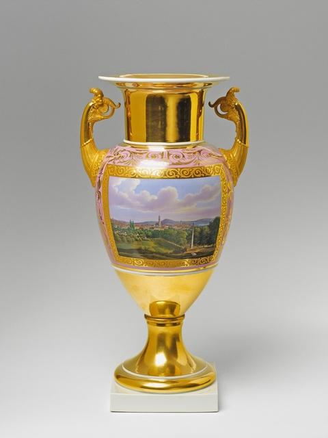 Vase mit Potsdamer Ansichten -
