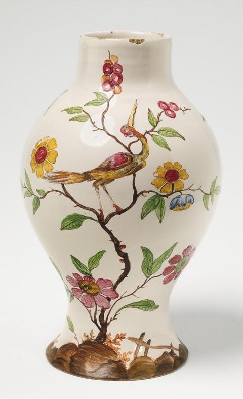 A rare German baluster-form faience vase -