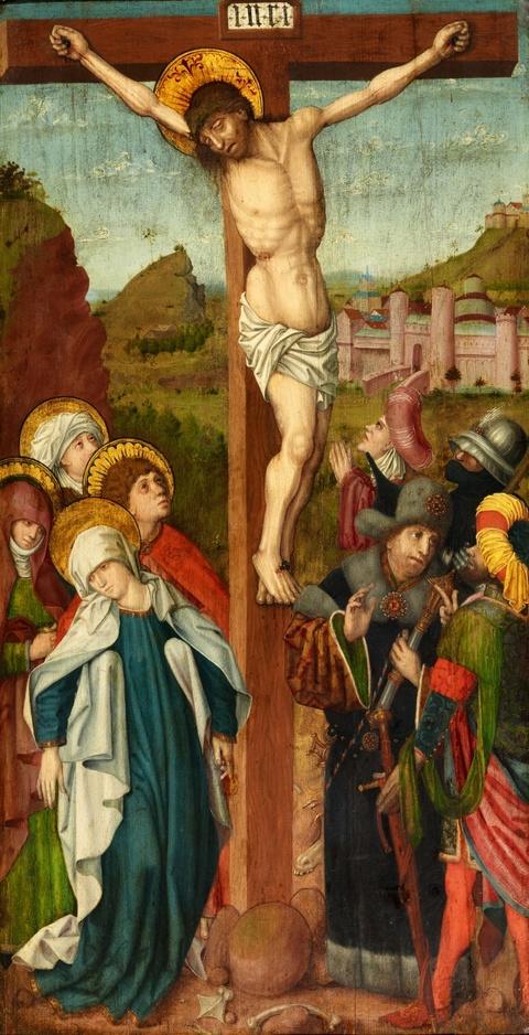 Niederrheinischer Meister um 1500 - Kreuzigung Christi und Verkündigung an Maria