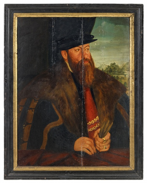 German School of the 16th century - Portrait of Count Wolfgang zu Stolberg and Wernigerode