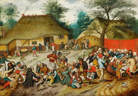 Pieter Brueghel d. J. - Das Hochzeitsmahl im Freien