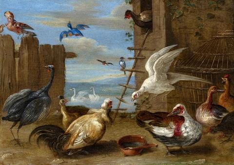 Jan van Kessel the Elder, attributed to - Caged Birds