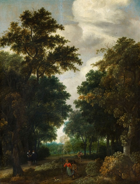 Salomon Rombouts - Wooded Landscape with Figures