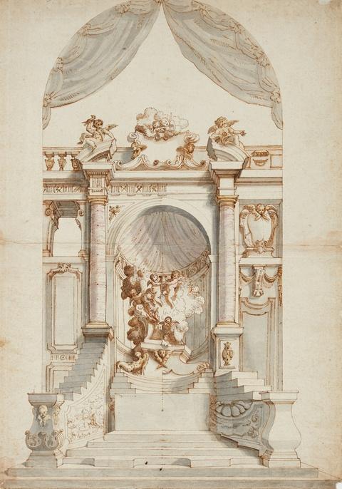 Süddeutscher Meister 1. Hälfte 18. Jahrhundert - Altarentwurf