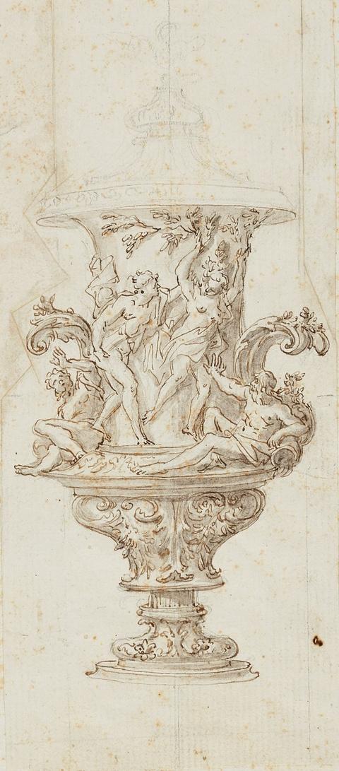 Römischer Meister des 18. Jahrhunderts - Prunkvase mit der Darstellung von Apollo und Daphne