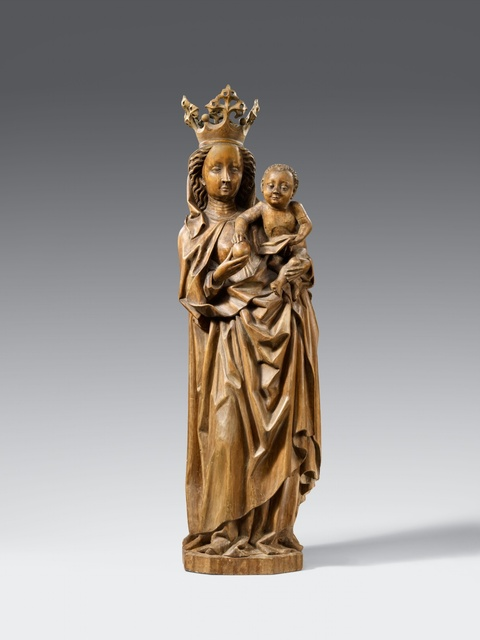 Probably Swabia circa 1500 - A presumably Swabian wooden figure of the Virgin and Child, circa 1500