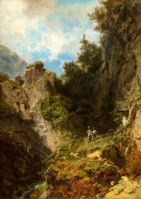 Carl Spitzweg - Schulkinder im Gebirge