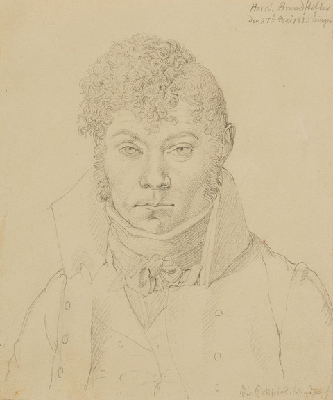 Johann Gottfried Schadow, attributed to - Portrait of a Young Man