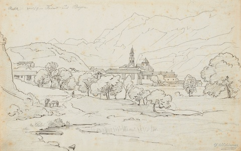 Johann Wilhelm Schirmer - View of a North Italian Village