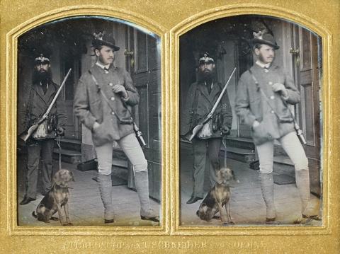Wilhelm Schneider - Mann mit Jagdausrüstung