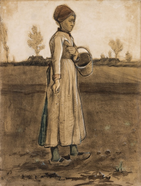 Vincent van Gogh - Femme semant/Peasant Woman Sowing with a Basket