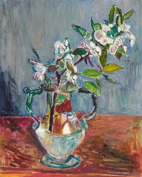Hans Purrmann - Blütenzweig in Glasvase