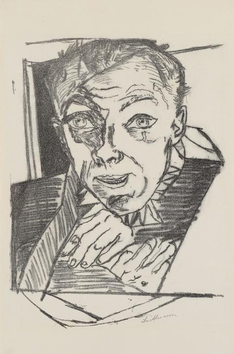 Max Beckmann - Selbstbildnis (Zu: Die Hölle)