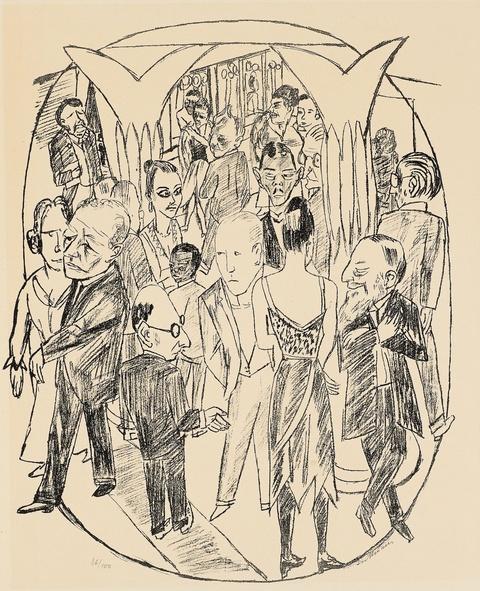 Max Beckmann - Das Theaterfoyer
