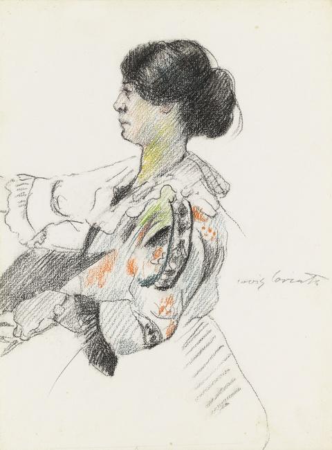 Lovis Corinth - Bildnis einer jungen Dame