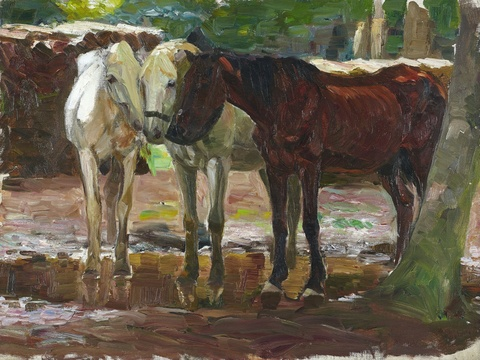Otto Dill - Pferde im Regen