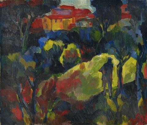 Josef Eberz - Untitled (Dekorative Landschaft/Die geträumte Stadt)