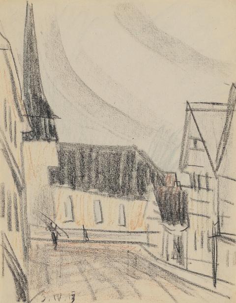Lyonel Feininger - Ohne Titel (Gelmeroda)