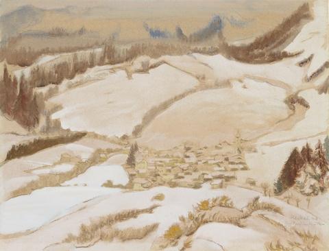 Erich Heckel - Dorf im Winter