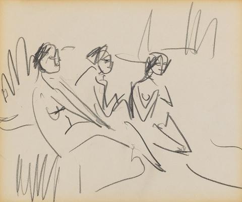 Ernst Ludwig Kirchner - Drei Badende am Strand